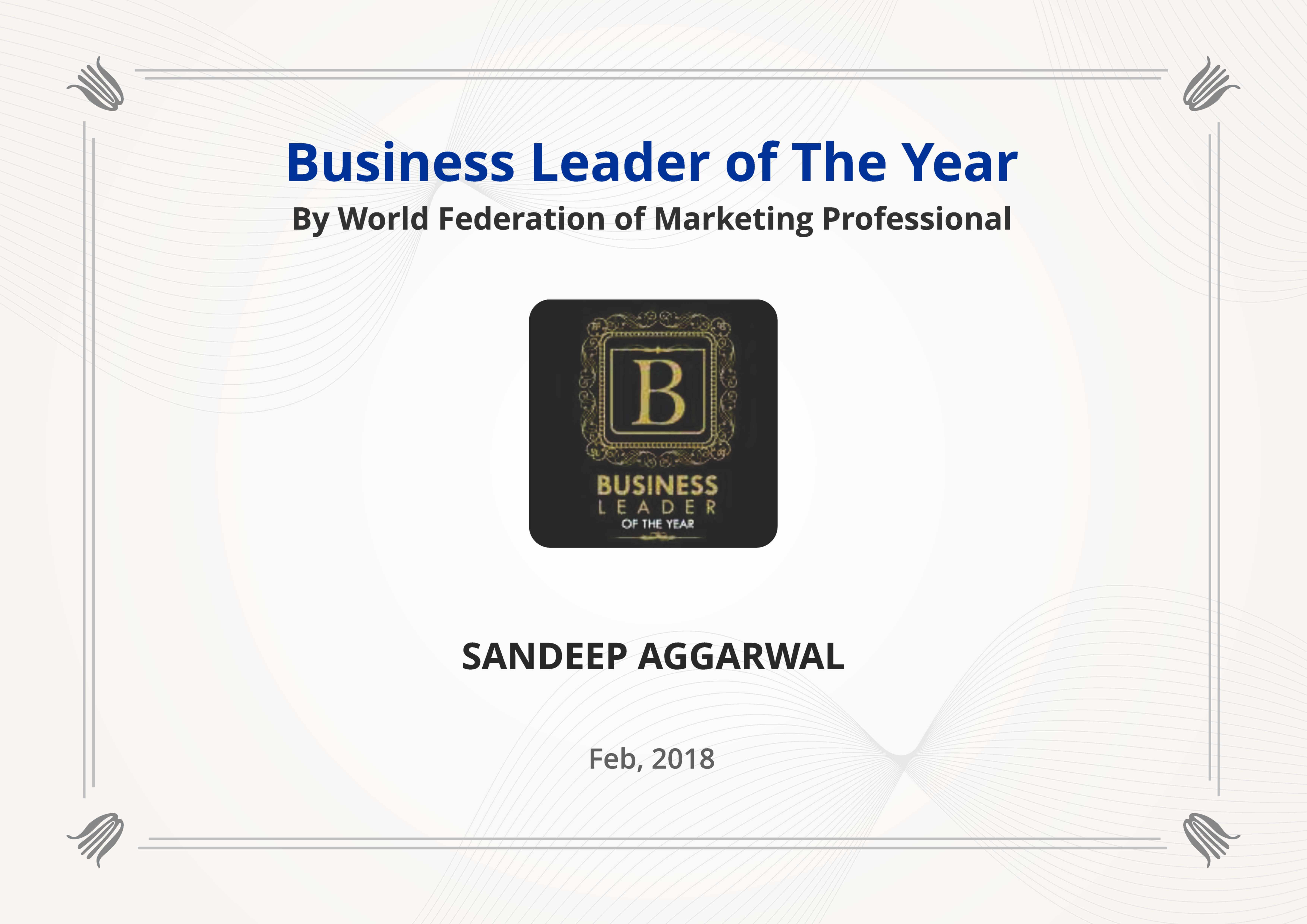 Business leader 2018