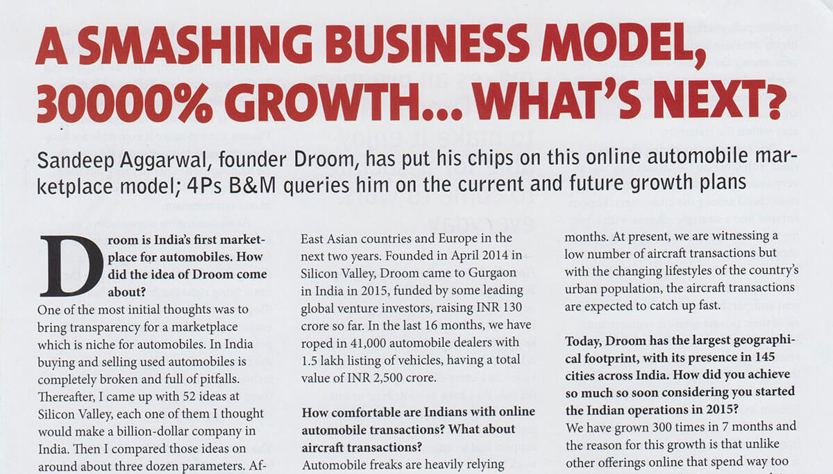 Magazines 4P's | Droom in news